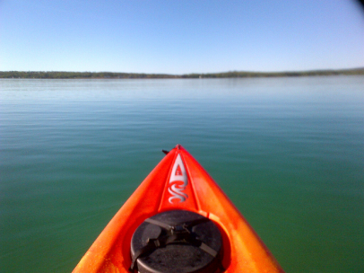 kayak on a lake