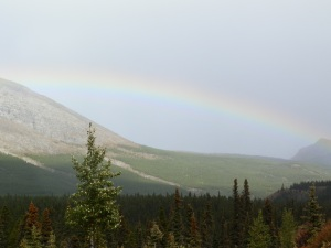 Rainbows and mountains