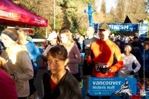 Half Marathon start in Vancouver