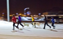 runners in the winter