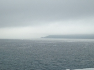 foggy ferry ride